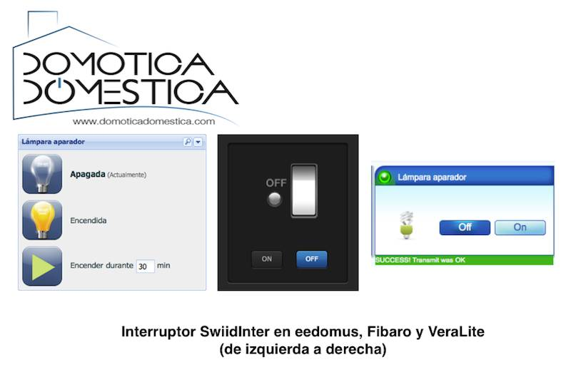 Interruptor de cable Z-Wave SwiidInter - Inclusión en controladores domóticos
