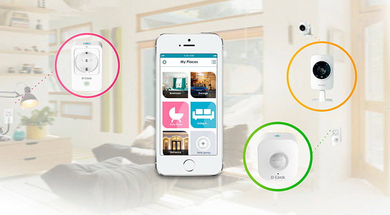 D-Link Smart Home HD Starter kit en el hogar
