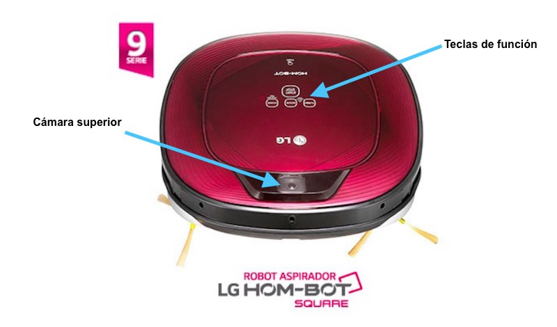 LG Homebot Square - Cámara superior