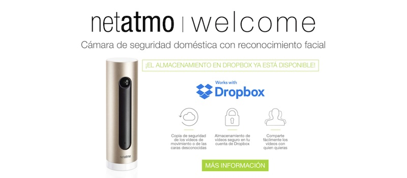 Netatmo Welcome soporta Dropbox