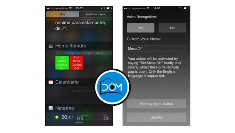 Aplicación Home Remote para iOS
