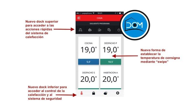 Aplicación Total Connect Comfort de Honeywell para Evohome