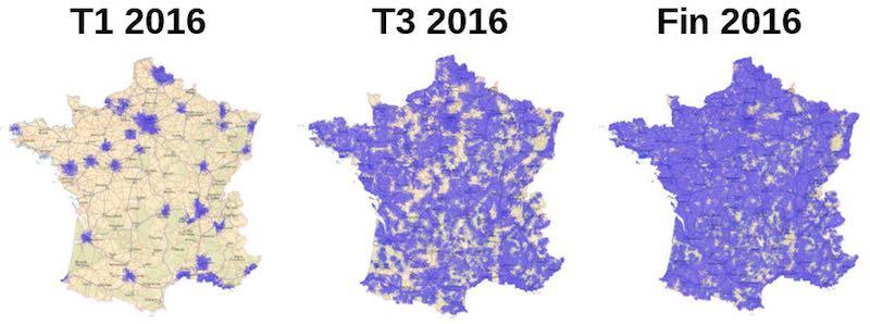 Cobertura LoRa de Bouygues Telecom en Francia