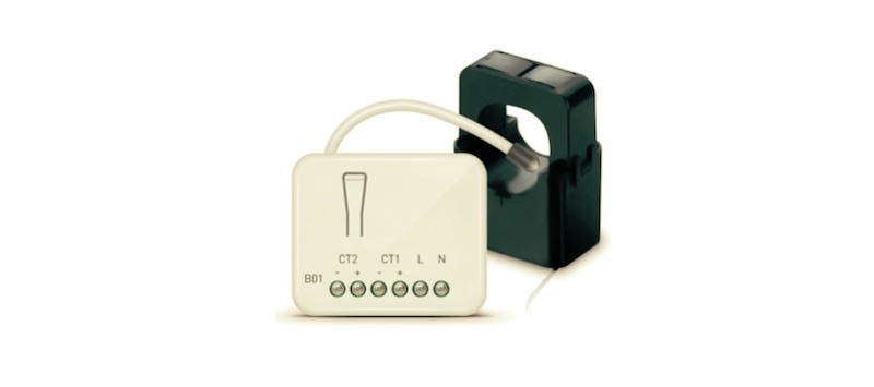 Módulo de control de consumo con pinzas amperimétricas de Zipato