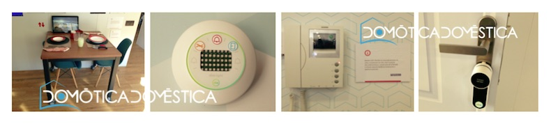 Diversos dispositivos domóticos en casa inteligente de la Fundación ONCE