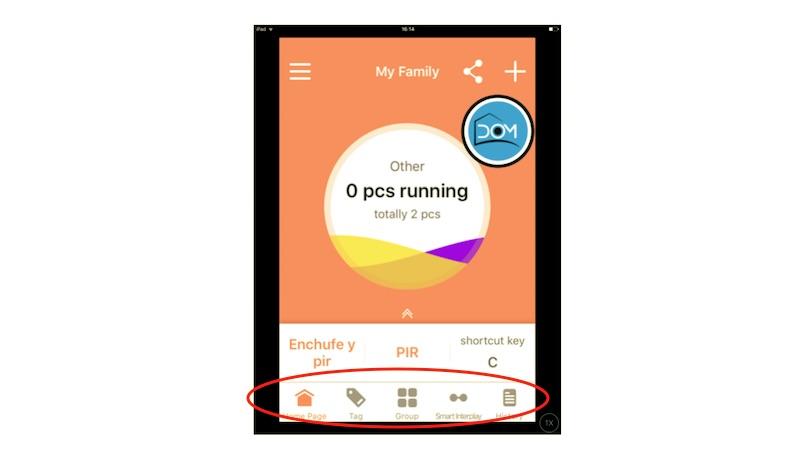 Dock inferior de la aplicación para iOS