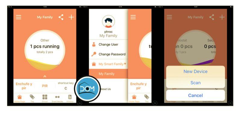 Pantalla principal de la App mart Life para iOS