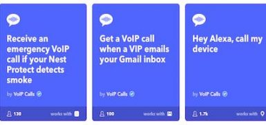 IFTTT VoIP Service