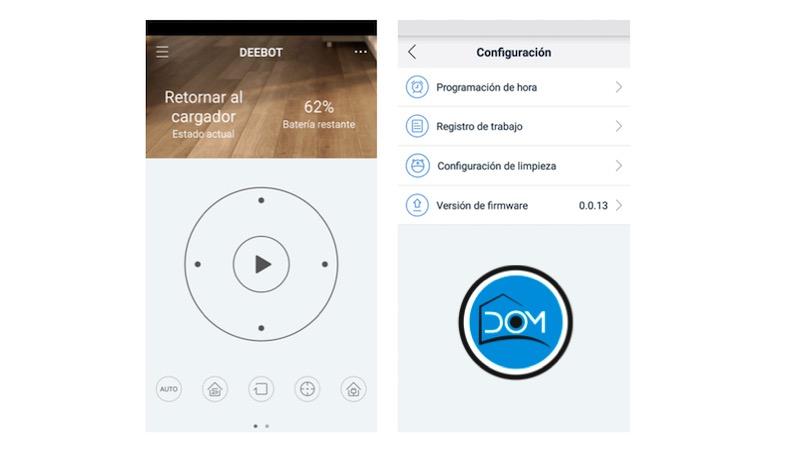 Deebot M88 -Algunas funcionalidades de la app