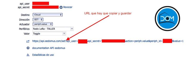 URL API eedomus