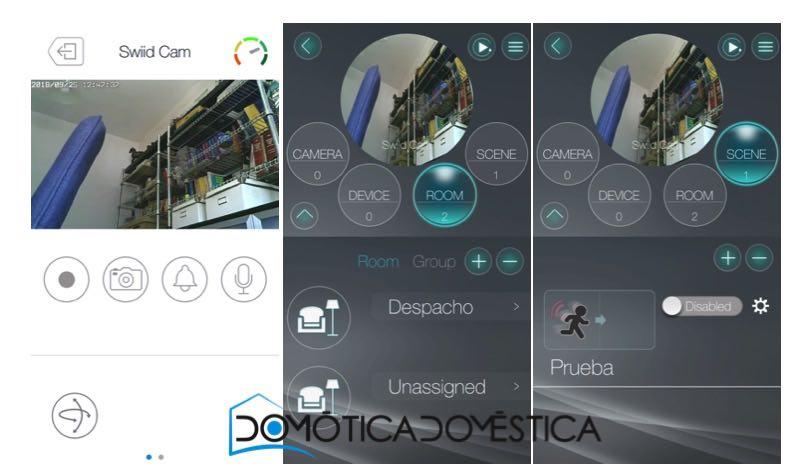 La App SwiidCarm+ View en un teléfono Android