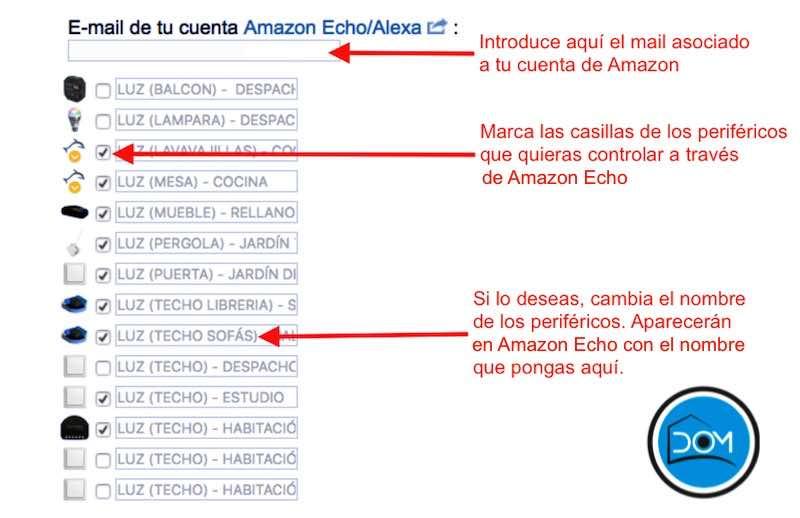 Configuración de Amazon Echo en eedomus