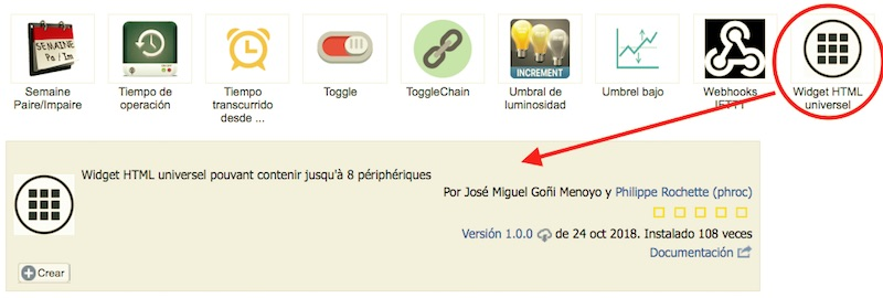 Plugin Widget HTML para eedomus
