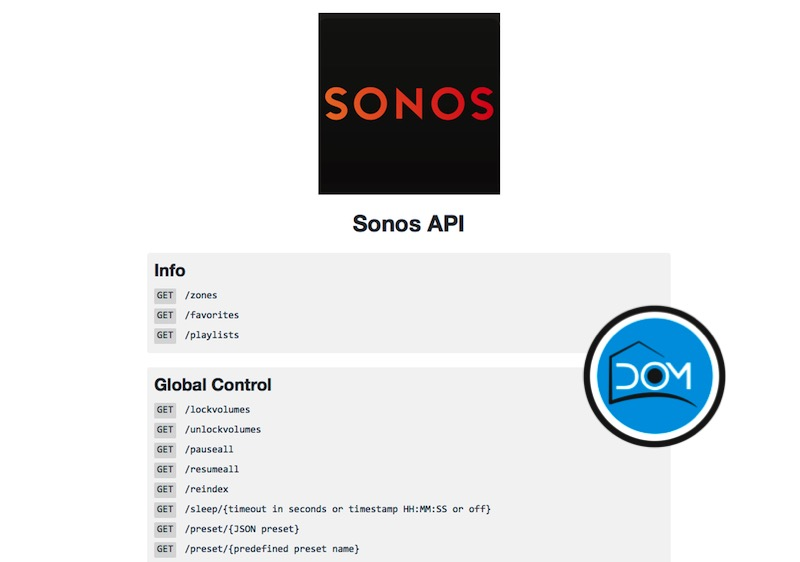 API Sonos en eedomus