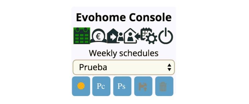 Evohome - Consola de control en Jeedom