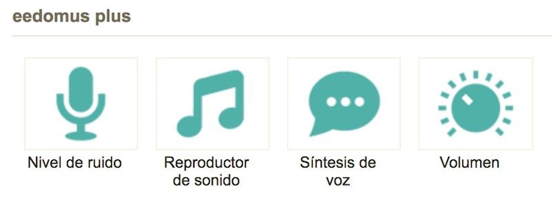Reproductor de sonido en eedomus+